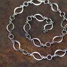 Load image into Gallery viewer, Elegant Marquise Link Chain Necklace, Sterling Silver - jewelry by CookOnStrike