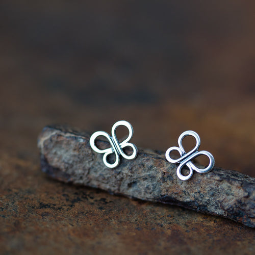 Minimalist Butterfly Stud Earrings - jewelry by CookOnStrike
