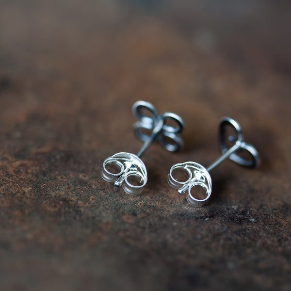 Love and Luck - Tiny Mismatched Stud Earrings