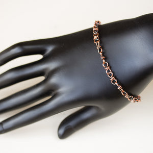 Bigger Link Copper Chain Bracelet for Man or Woman - jewelry by CookOnStrike