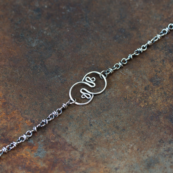 Silver Chain Bracelet With Snakes Ornament - CookOnStrike