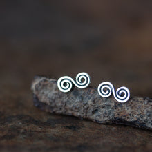 Load image into Gallery viewer, Small Double Spiral Earrings, Celtic spiral - jewelry by CookOnStrike