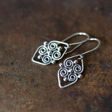 Load image into Gallery viewer, Handcrafted silver earrings, short dangles - jewelry by CookOnStrike