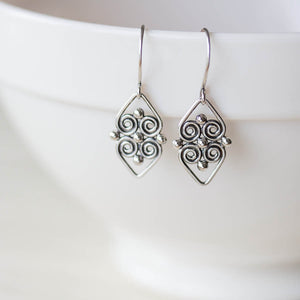 Handcrafted silver earrings, short dangles - jewelry by CookOnStrike
