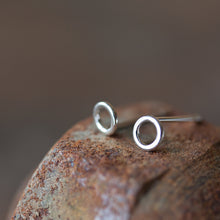 Load image into Gallery viewer, Teeny Tiny Circle Stud Earrings, 4.5mm - CookOnStrike