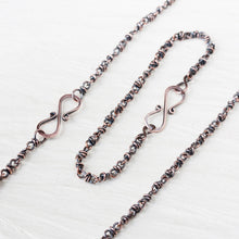 Load image into Gallery viewer, Copper Jewelry SET: Handmade Copper Chain Necklace and Bracelet - jewelry by CookOnStrike