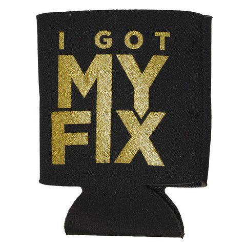 "Black and Gold Chris Lane koozie ""I Got My Fix"""