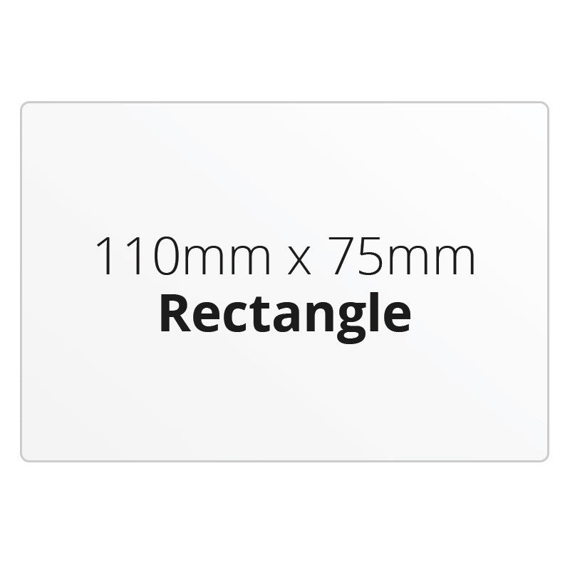 110mm X 75mm Rectangle - Premium Paper - Printed Labels & Stickers