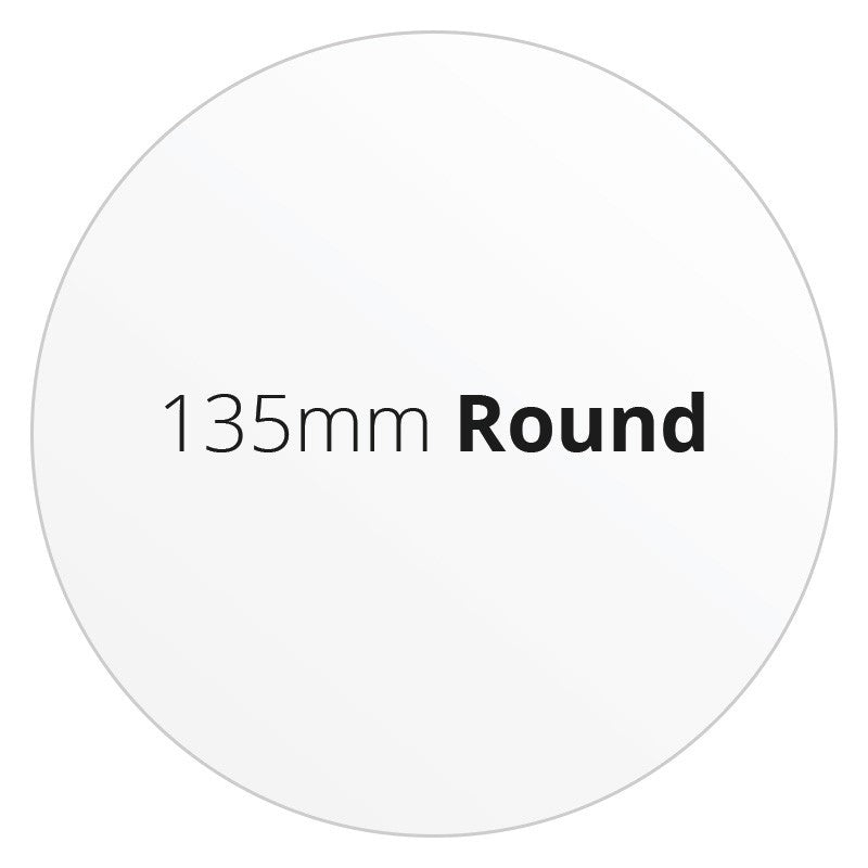 135mm Round - Premium Paper - Printed Labels & Stickers - StickerShop