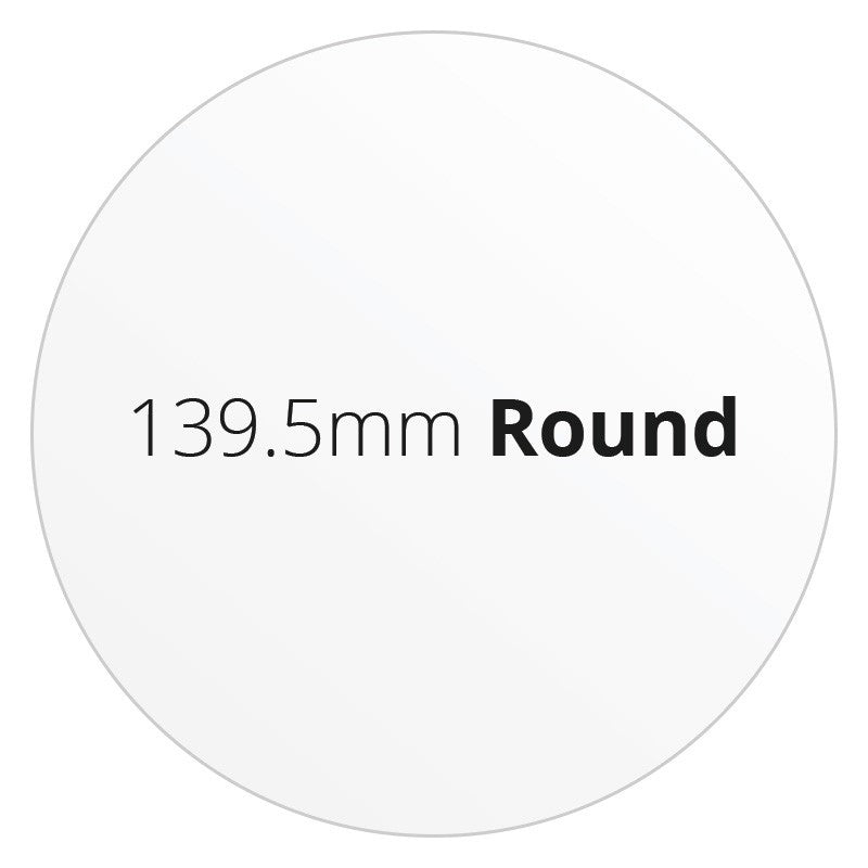139.5mm Round - Premium Paper - Printed Labels & Stickers - StickerShop