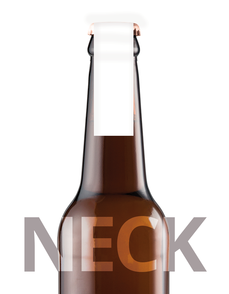 Printed Beer Bottle Label - 148mm x 20mm