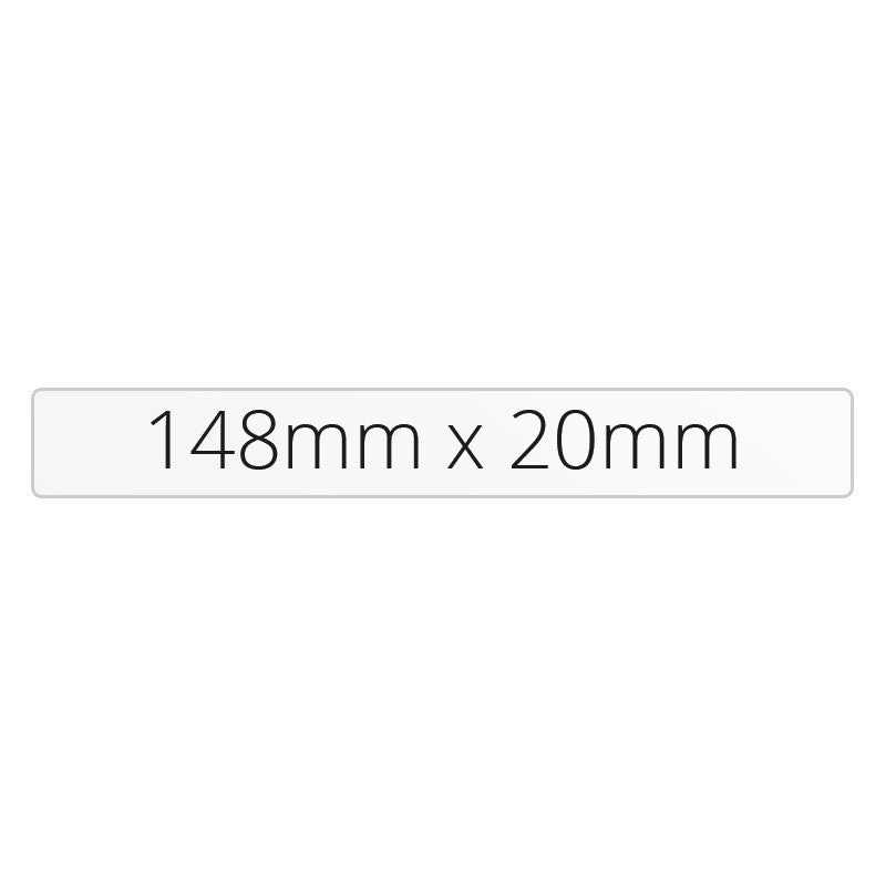 148mm x 20mm Rectangle - Premium Paper - Printed Labels & Stickers - StickerShop