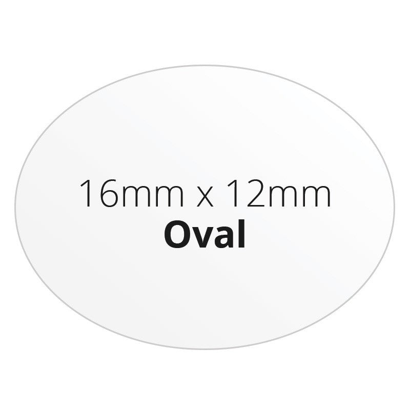 16mm x 12mm Oval - Premium Paper - Printed Labels & Stickers - StickerShop