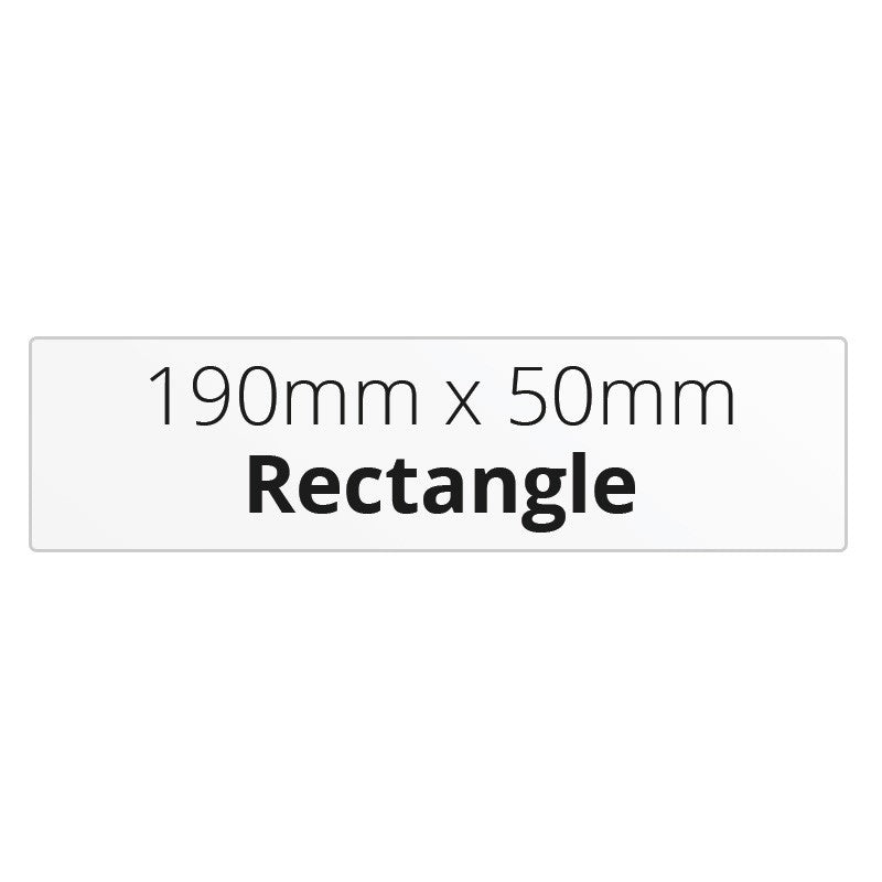 190mm x 50mm Rectangle - Premium Paper - Printed Labels & Stickers - StickerShop