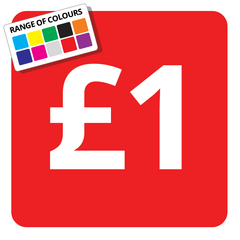 £1 Printed Price Sticker - 25mm Square