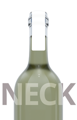 Wine Bottle Label Neck - Paper - 148mm x 20mm Rectangle
