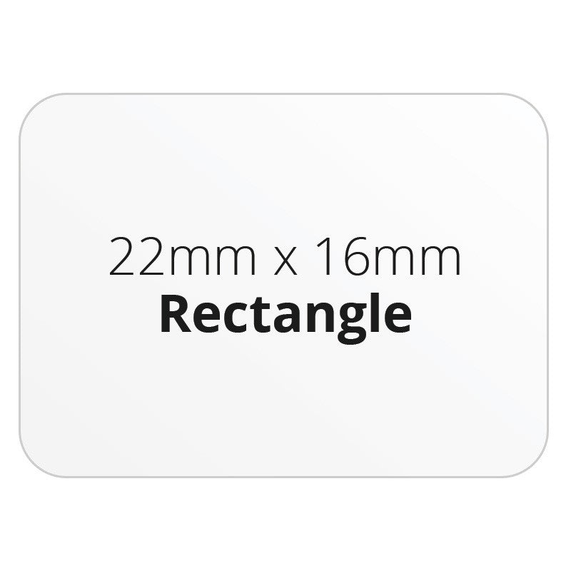 22mm x 16mm Rectangle - Premium Paper - Printed Labels & Stickers - StickerShop