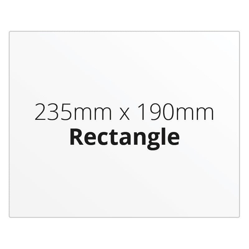 235mm x 190mm Rectangle - Premium Paper - Printed Labels & Stickers - StickerShop