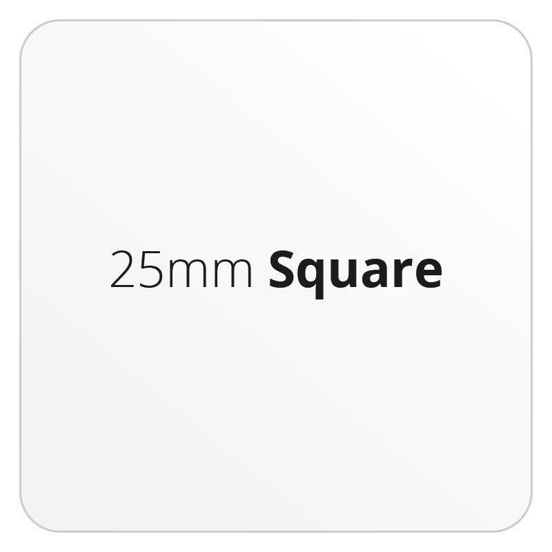 25mm Square - Premium Paper - Printed Labels & Stickers