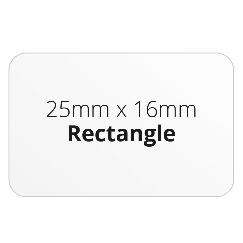 25mm x 16mm Rectangle - Premium Paper - Printed Labels & Stickers - StickerShop