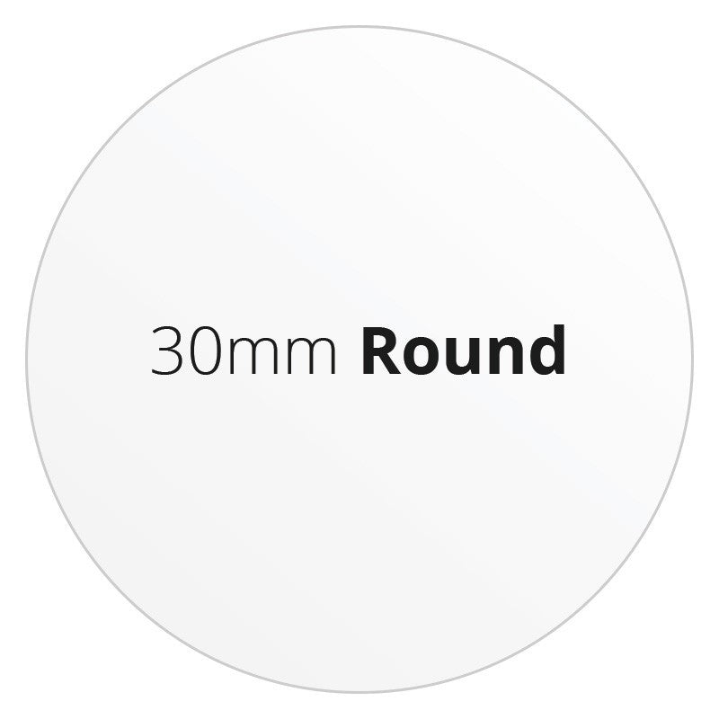 30mm Round - Premium Paper - Printed Labels & Stickers