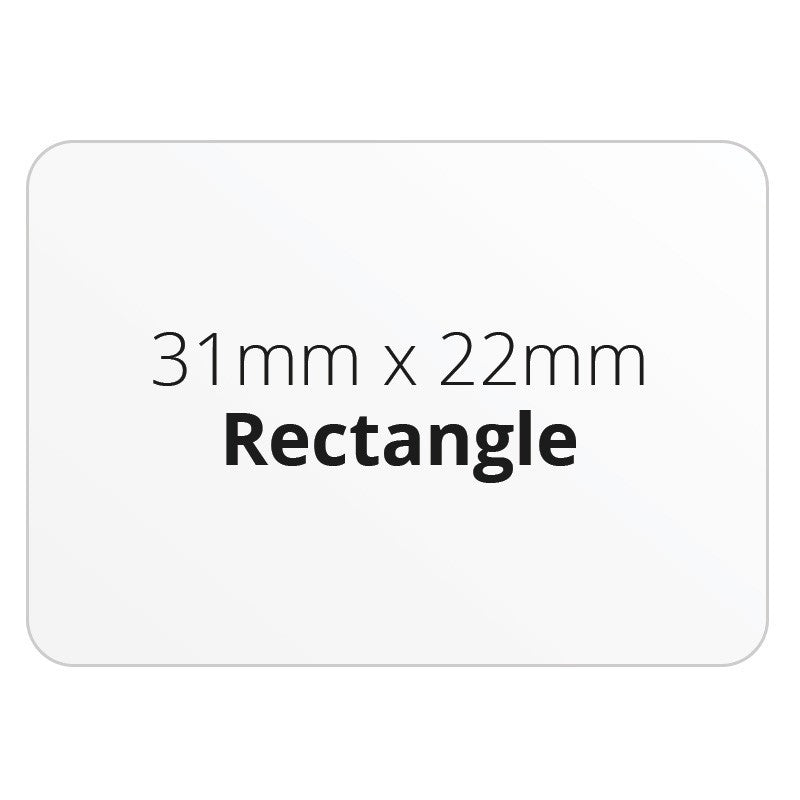 31mm x 22mm Rectangle - Premium Paper - Printed Labels & Stickers - StickerShop