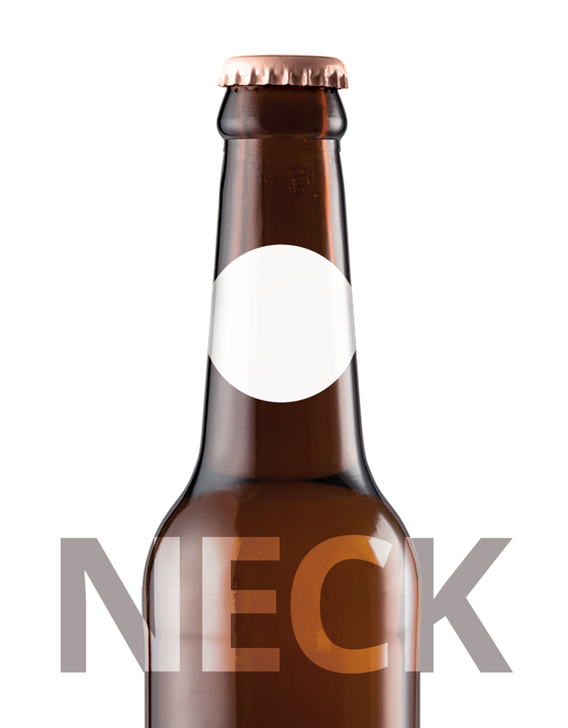 picture regarding Printable Beer Bottle Labels titled Beer Bottle Label Neck - Paper - 32mm Spherical