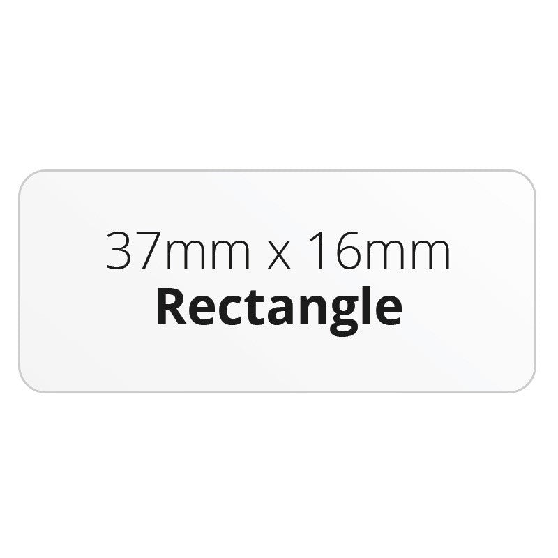 37mm x 16mm Rectangle - Premium Paper - Printed Labels & Stickers - StickerShop