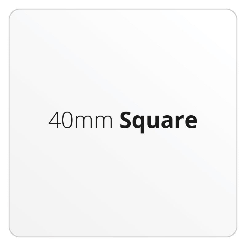 40mm Square - Premium Paper - Printed Labels & Stickers - StickerShop