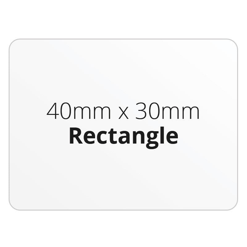 40mm x 30mm Rectangle - Premium Paper - Printed Labels & Stickers - StickerShop