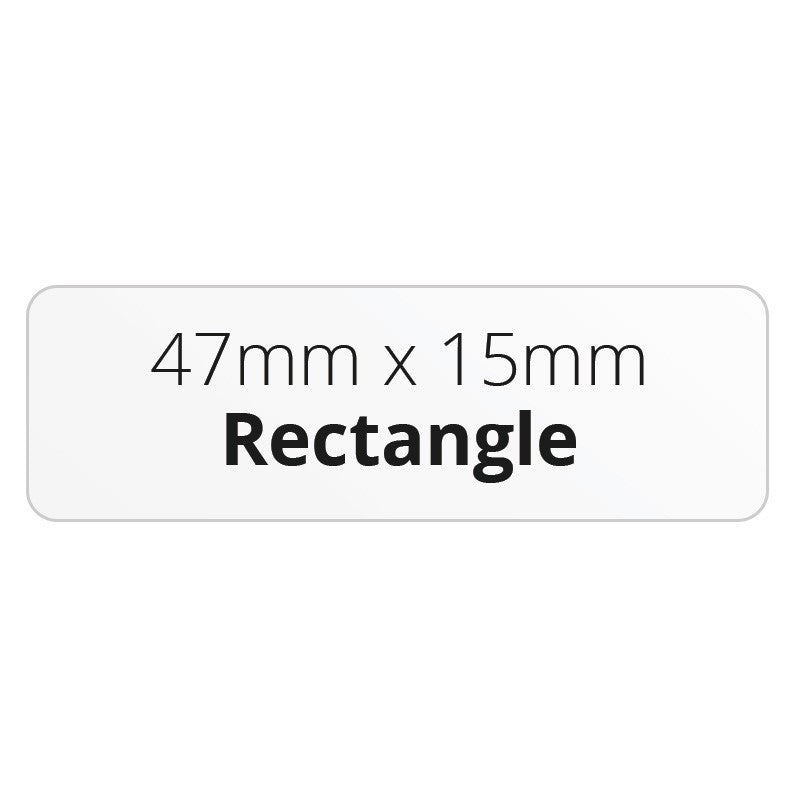 47mm X 15mm Rectangle - Premium Paper - Printed Labels & Stickers