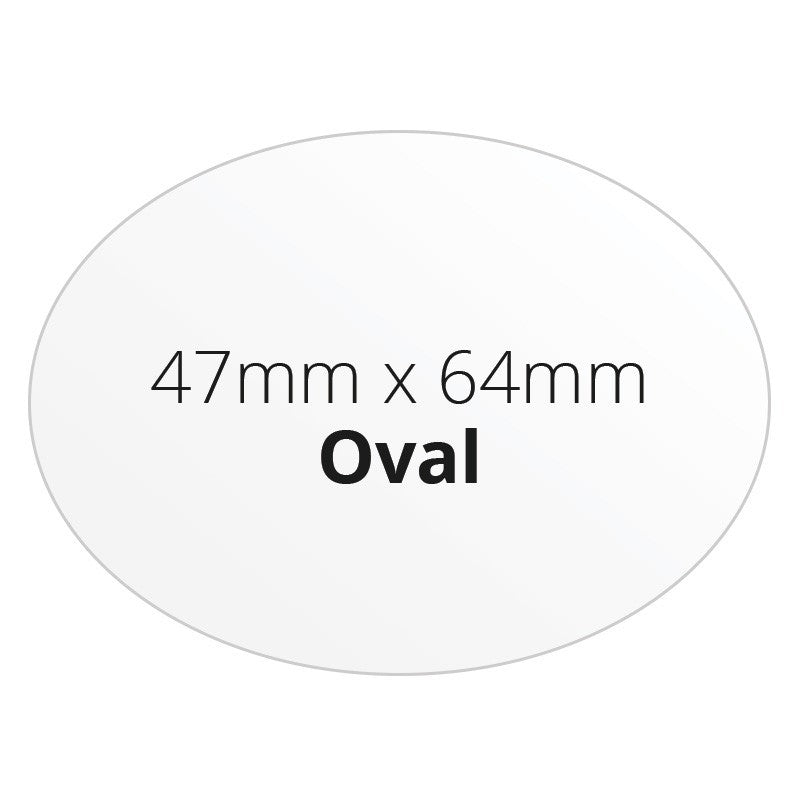 47mm X 64mm Oval - Premium Paper - Printed Labels & Stickers