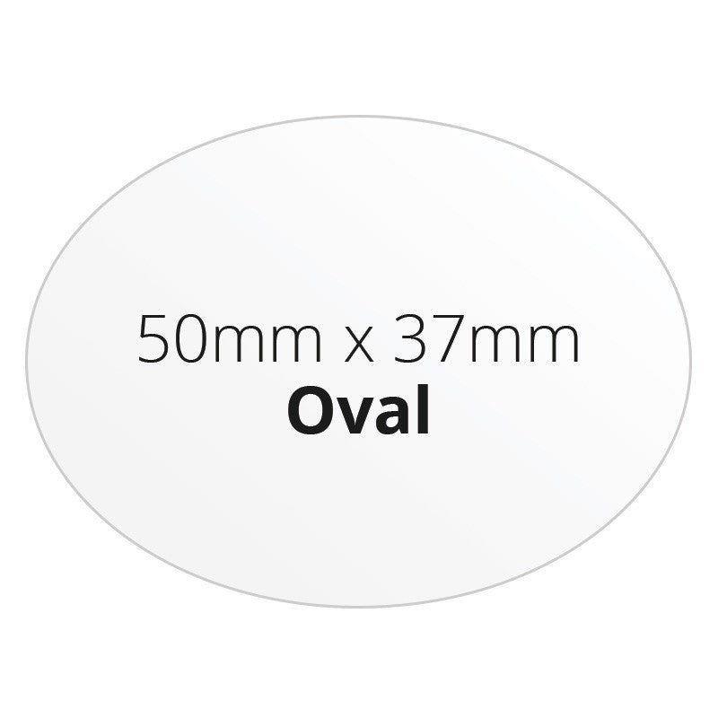 50mm x 37mm Oval - Premium Paper - Printed Labels & Stickers - StickerShop