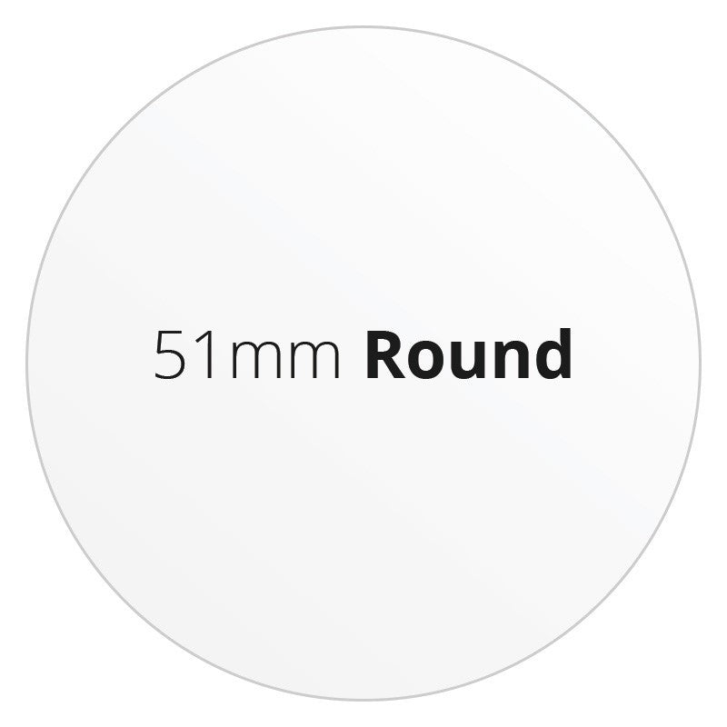 51mm Round - Premium Paper - Printed Labels & Stickers - StickerShop