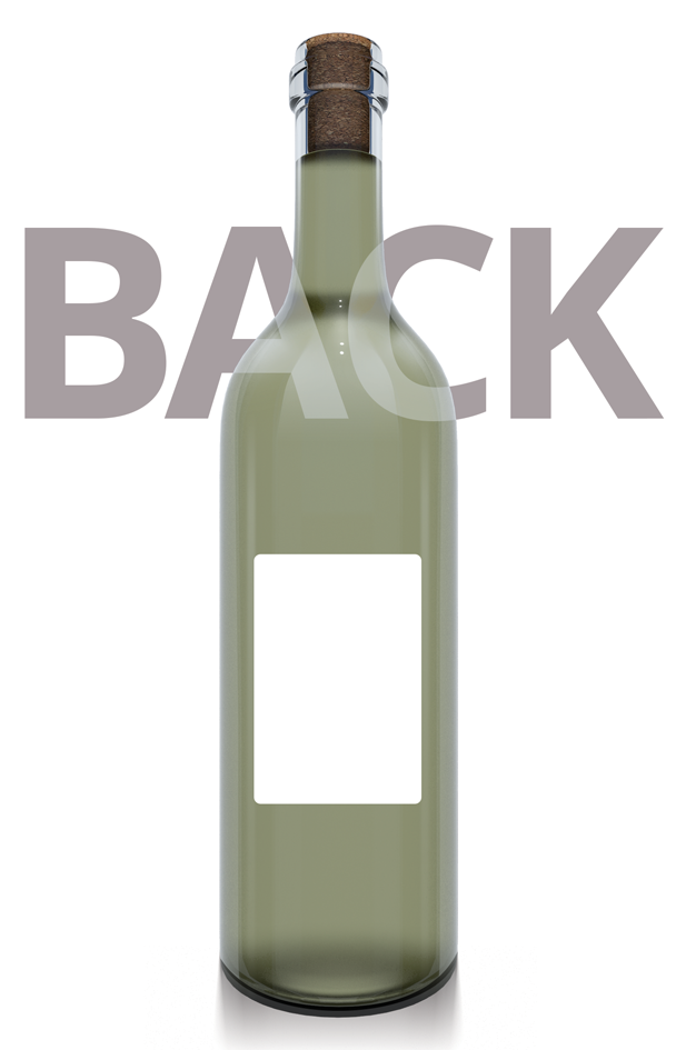 Printed Wine Bottle Label - 76mm x 51mm
