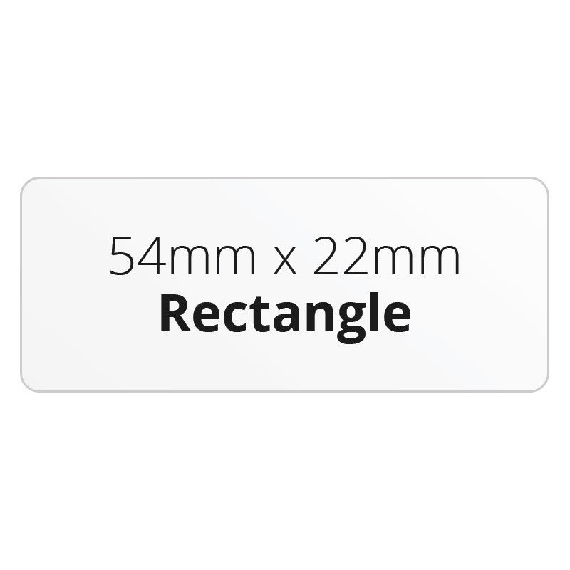 54mm x 22mm Rectangle - Premium Paper - Printed Labels & Stickers - StickerShop