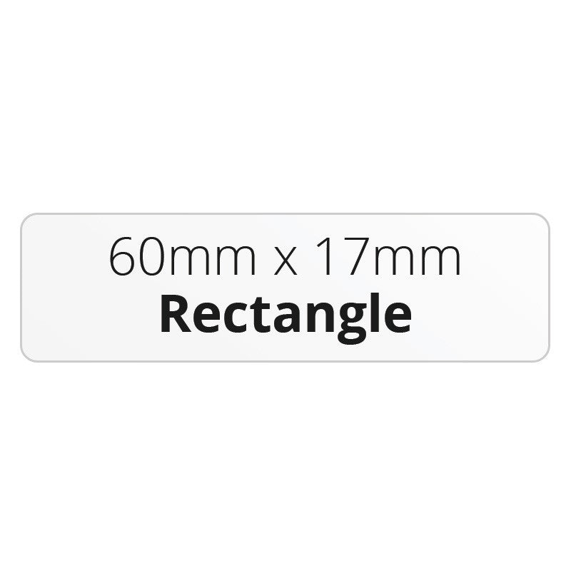 60mm x 17mm Rectangle - Premium Paper - Printed Labels & Stickers - StickerShop