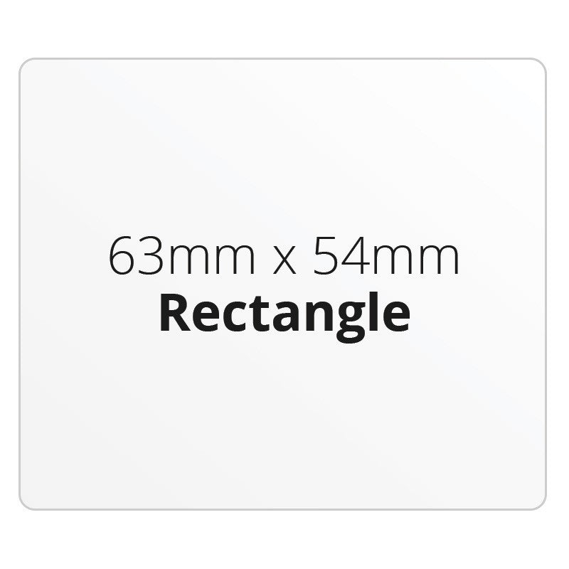 63mm X 54mm Rectangle - Premium Paper - Printed Labels & Stickers