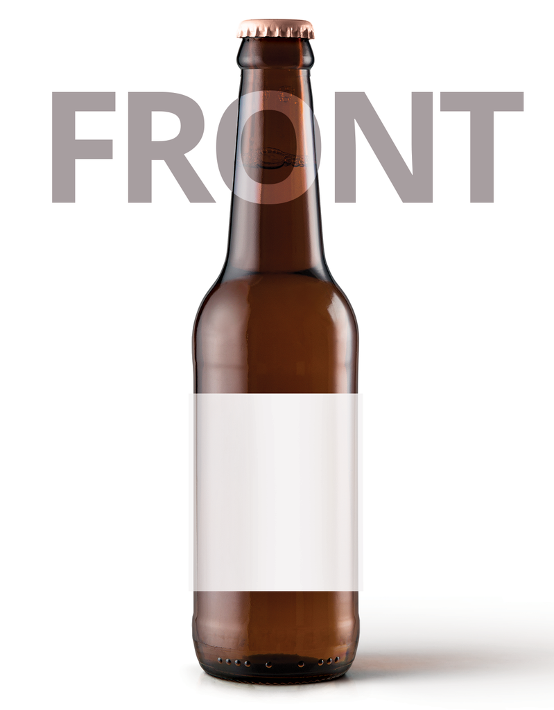 graphic about Printable Beer Bottle Labels named Beer Bottle Label Entrance - Paper - 63mm x 68mm Rectangle