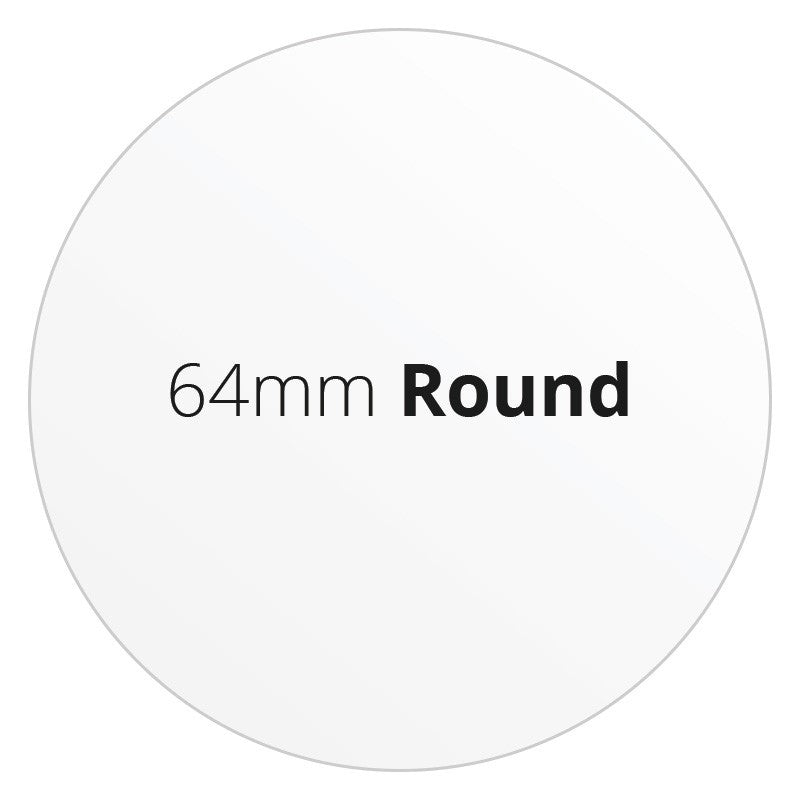64mm Round - Premium Paper - Printed Labels & Stickers