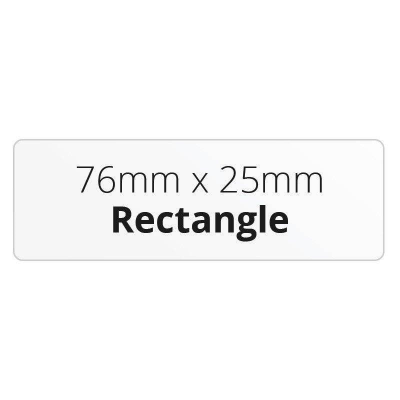 76mm x 25mm Rectangle - Premium Paper - Printed Labels & Stickers - StickerShop
