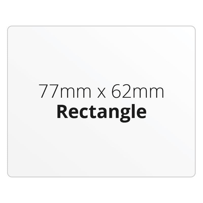 77mm x 62mm Rectangle - Premium Paper - Printed Labels & Stickers - StickerShop