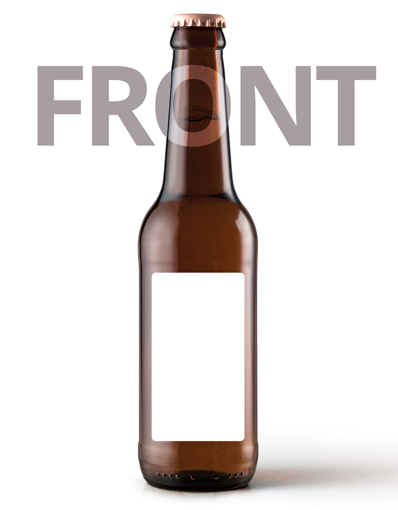 Printed Beer Bottle Label - 80mm x 44mm