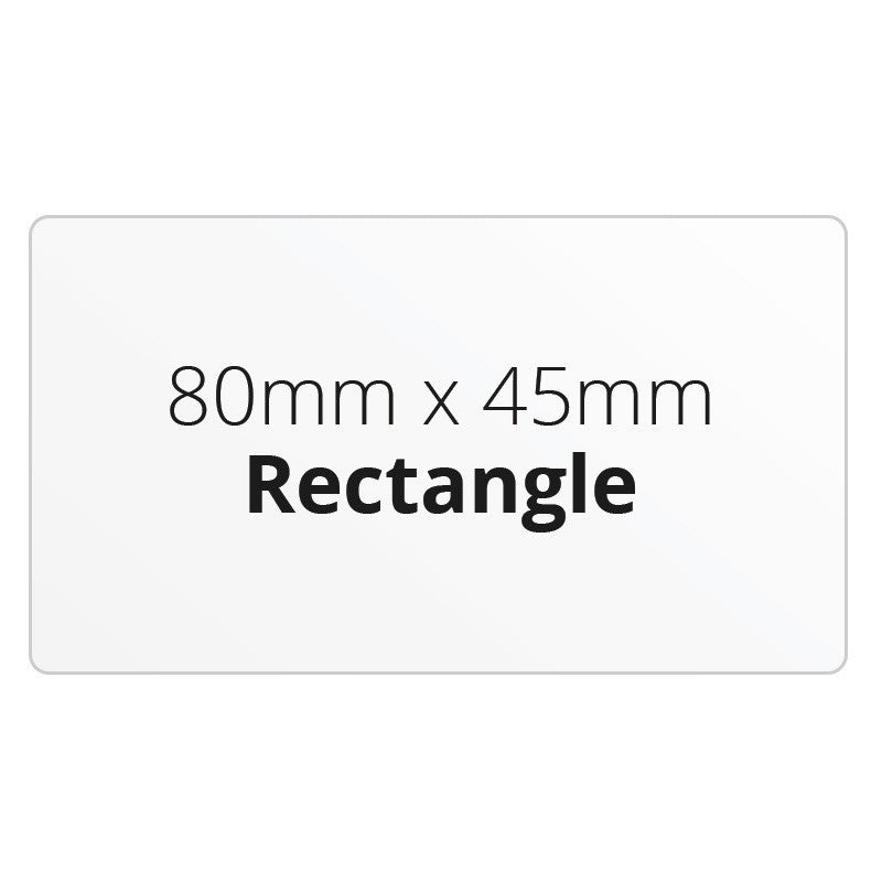 80mm x 45mm Rectangle - Premium Paper - Printed Labels & Stickers - StickerShop