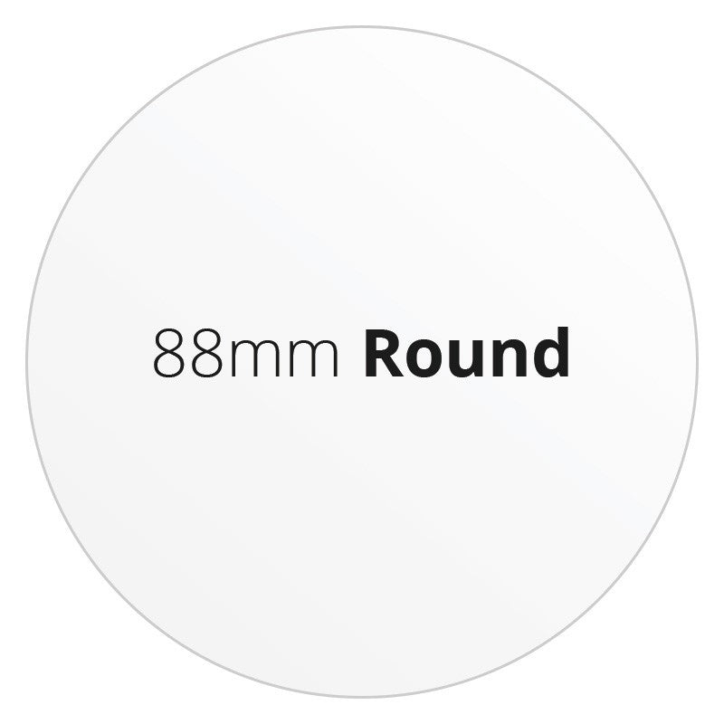 88mm Round - Premium Paper - Printed Labels & Stickers - StickerShop