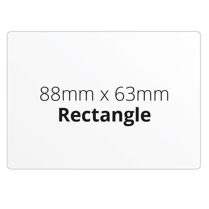 88mm x 63mm Rectangle - Premium Paper - Printed Labels & Stickers - StickerShop