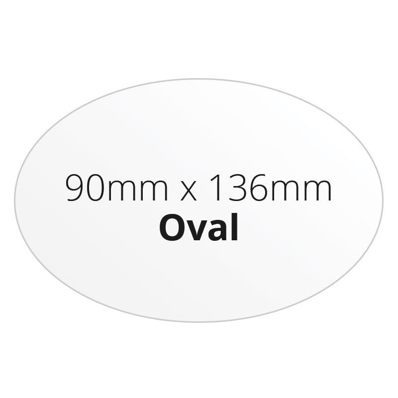 90mm x 136mm Oval - Premium Paper - Printed Labels & Stickers - StickerShop