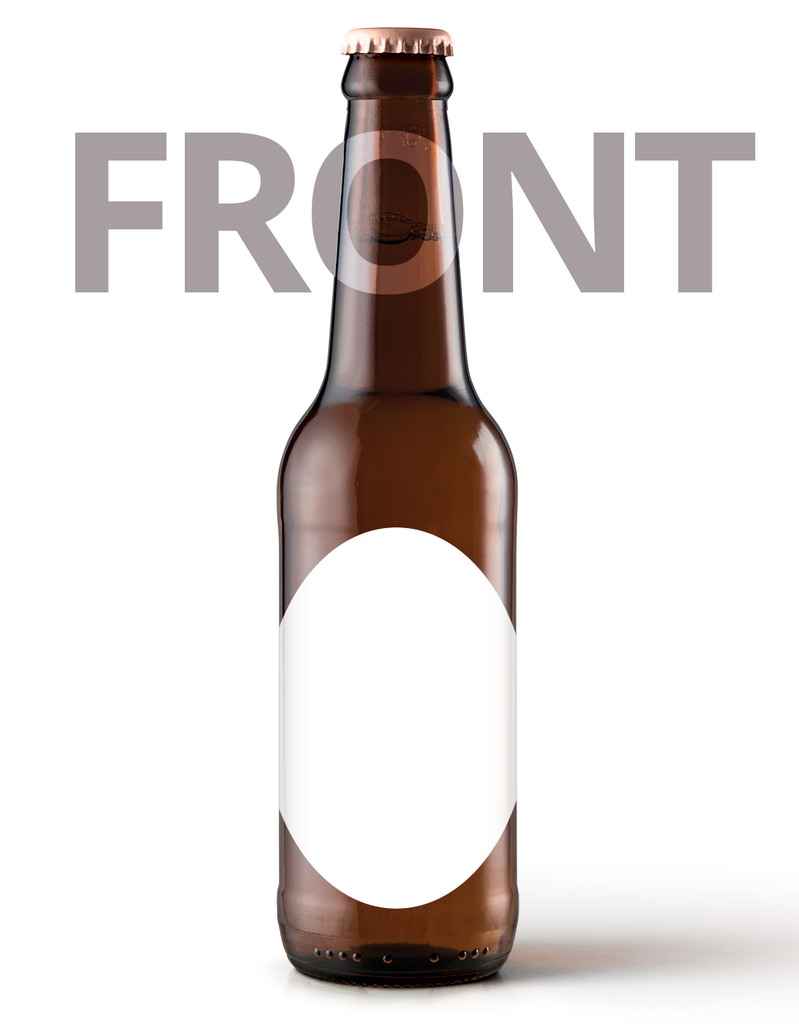 Printed Beer Bottle Label - 90mm x 70mm