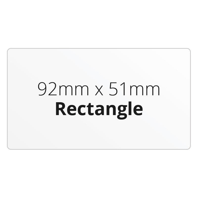 92mm x 51mm Rectangle - Premium Paper - Printed Labels & Stickers - StickerShop