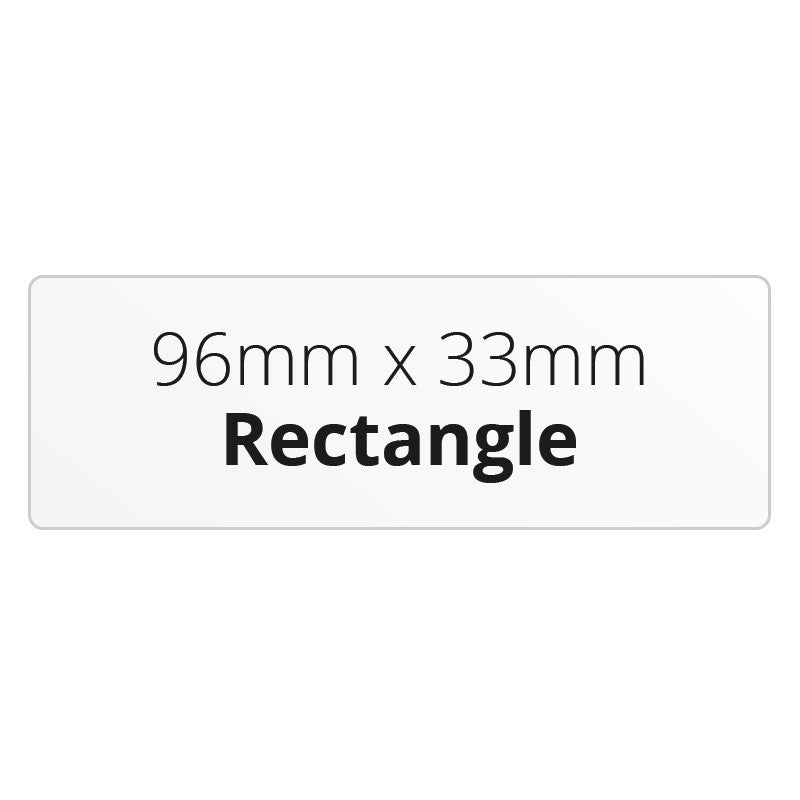 96mm x 33mm Rectangle - Premium Paper - Printed Labels & Stickers - StickerShop